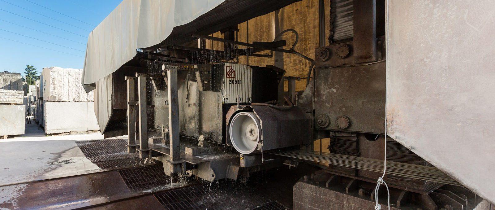 Pellegrini Multiwire macchina per la produzione di Archi e Lastre di Marmo e Graniti